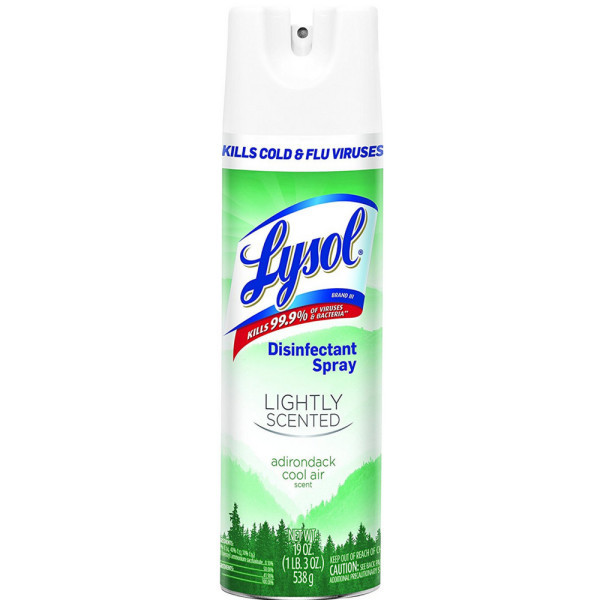 lysol disinfectant spray lightly scented adirondack cool air 19 oz