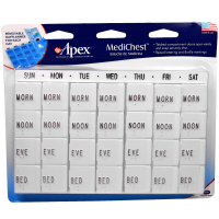 Apex Medi-Chest Pill Organizer 1 ea [076855700150]