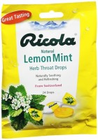 Ricola Herb Throat Drops Natural Lemon Mint 24 Each [036602079489]