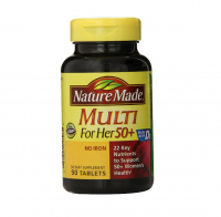 Nature Made Multi for Her 50+ Vitamin/Mineral Tablets 90 ea [031604017965]