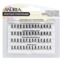 Andrea Stacked Individuals Short Black Lashes 56 ea [078462694754]