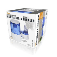 Crane 2 in 1 Inhaler & Warm Mist Humidifier, Blue and White 1 ea [818767011104]
