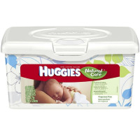 HUGGIES Natural Care Baby Wipes, Unscented  64 ea [036000318111]
