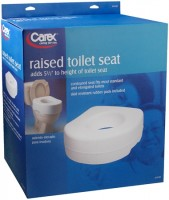 Carex Raised Toilet Seat B310-00 1 Each [023601131003]