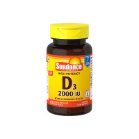 Sundance  Vitamin-D3 2000 IU Supplement, 60 ea [840093102317]