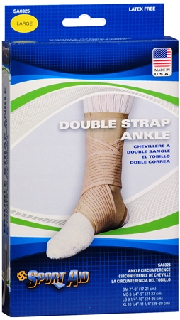 Sport Aid Double Strap Ankle Support LG 1 Each [763189016322]