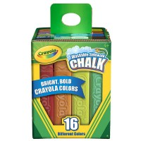Crayola Washable Sidewalk Chalk, Assorted Colors 16 ea [071662612160]