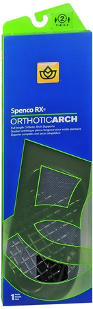 Spenco RX Full Length Orthotic Arch Supports Size 2 1 Pair [038472443223]