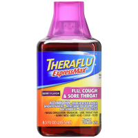Theraflu ExpressMax Flu Cough & Sore Throat Syrup, Berry Flavor 8.30 oz [300678130086]