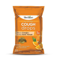 Herbion Naturals Cough Drops, Orange Flavor, 25 ea  [040232176418]