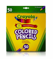 Crayola Colored Pencils, Assorted Colors 50 ea [071662040505]