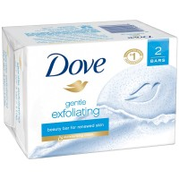 Dove Gentle Exfoliating Beauty Bars, 4.25 oz bars, 2 ea [011111613287]