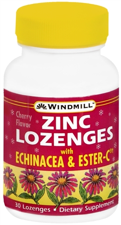 Windmill Zinc Lozenges With Echinacea and Ester-C 30 Each [035046004248]