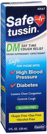 Safetussin DM Cough Suppressant/ Expectorant Mint Flavor 4 oz [053076111125]