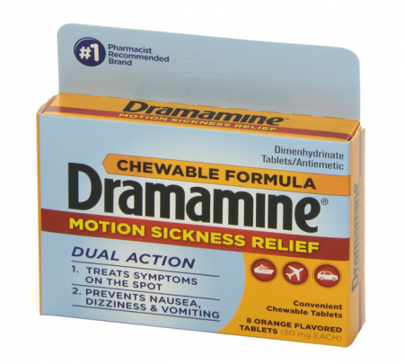 Dramamine Motion Sickness Relief Chewable Tablets 8 ea [831248002002]