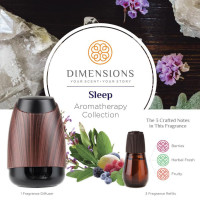 Dimensions Aromatherapy Sleep Collection Fragrance Diffuser&3 Refills for up to 4 Months of Brilliant Fragrance Infused With 100% Essential Oils 1 ea [691039107800]