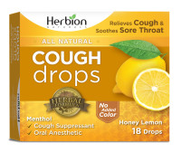 Herbion Naturals Cough Drops with Natural Honey Lemon Flavor, 18 ct [040232174964]