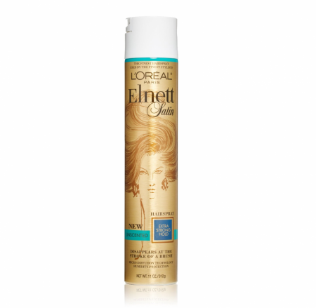 L'Oreal Elnett Satin Hairspray Extra Strong Hold Unscented 11 oz [071249221136]