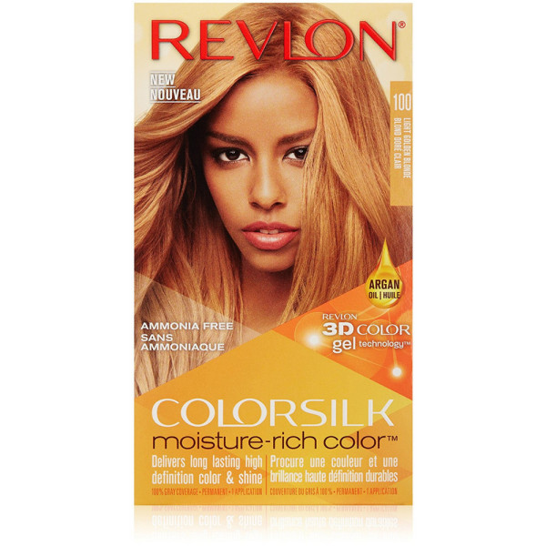 Revlon Colorsilk Moisture Rich Hair Color, Light Golden Blonde [100]1 Ea