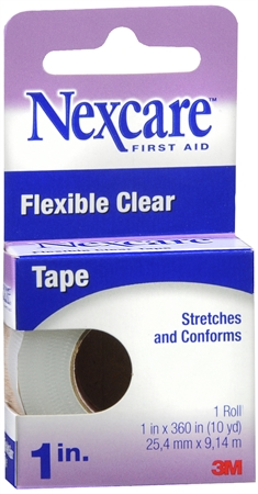 Nexcare Flexible Clear Tape 1 Inch 10 Yards [051131185968]