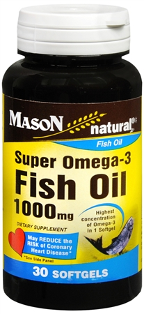 Mason Natural Super Omega-3 Softgels 30 Soft Gels [311845146380]