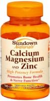 Sundown Calcium Magnesium and Zinc Caplets 100 Caplets [030768003258]