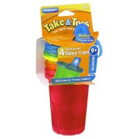The First Years Take & Toss Spill-Proof Cups 10-Ounce, Assorted Colors 4 ea [071463011766]