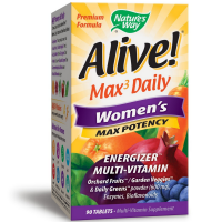 Nature's Way Alive! Max3 Daily Women's Max Potency Energizer Multivitamin Tablets 90 ea [033674155431]