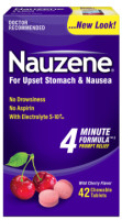 Nauzene Chewables Wild Cherry Flavor 42 Tablets [072959420420]