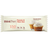 Think Thin  Protein & Fiber Bar, 1.41 oz Bars, Cupcake Batter 10 ea  [753656712901]