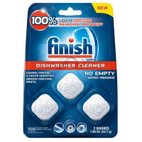 Finish In-Wash Dishwasher Cleaner: Clean Hidden Grease & Grime 3 ea [051700988976]