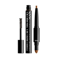 NYX Professional Makeup 3-In-1 Brow Pencil in Caramel, 0.135 oz [800897078874]