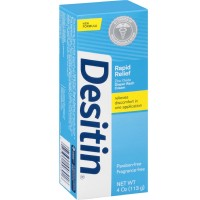 DESITIN Rapid Relief Zinc Oxide Diaper Rash Cream 4 oz [074300003016]