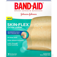 BAND-AID Skin-Flex Adhesive Bandages, Extra Large 7 ea [381371171286]