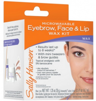 Sally Hansen Microwaveable Eyebrow, Face & Lip Wax Kit [074170209754]