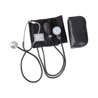 HealthSmart Home Blood Pressure Kit with Manual Sphygmomanometer, Stethoscope and Carrying Case, Large Adult Cuff, 13 to 17 inches, Black - 1 ea [767056176065]