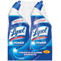 LYSOL Power Toilet Bowl Cleaner, Value Pack 24 oz each, 2 ea [019200791748]