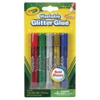 Crayola Washable Glitter Glue 5 ea [071662035228]