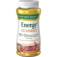 Nature's Bounty Energy Complex Gummies, Watermelon Flavor 60  ea [074312647499]