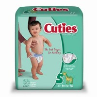 Cuties Premium Diapers Size 5 27 Each [037867880049]