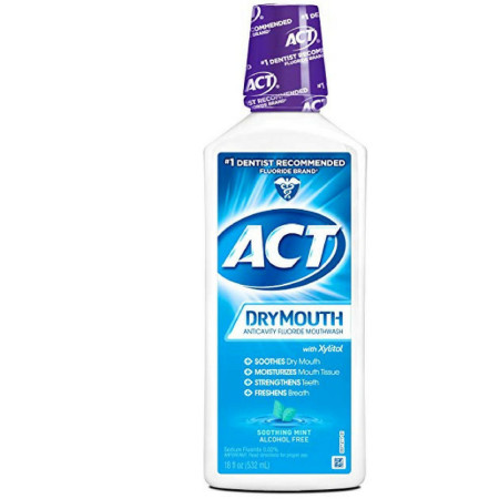 ACT Total Care Dry Mouth Anticavity Mouthwash, Soothing Mint 18 oz [041167096802]