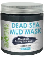 Sky Organics Mineral Rich Purifying Dead Sea Face Mud Mask for All Skin Types, 8 oz. [856045007074]