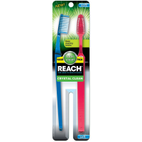 REACH Crystal Clean Value Pack Adult Toothbrushes, Soft 2 ea [840040195416]