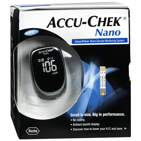 ACCU-CHEK Nano SmartView Blood Glucose Monitoring System 1 Each [365702483101]