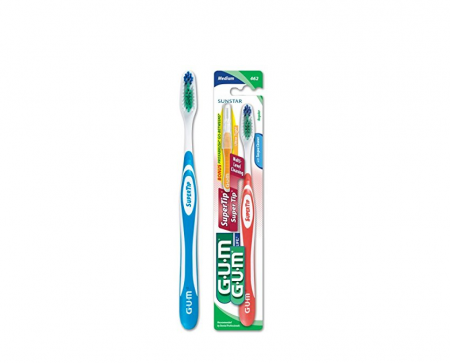 GUM Super Tip Toothbrush Medium/Full 1 Each [070942127530]