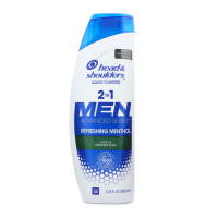 Head & Shoulders Cool & Energizes Scalp 2-In-1 Dandruff Shampoo + Conditioner 12.8 oz [037000782919]