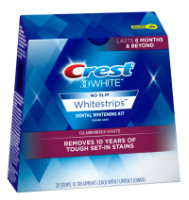 Crest 3D White Dental Whitening Kit, No Slip Whitestrips, Glamorous White 14 ea [889714000052]