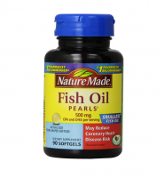 Nature Made Omega-3 Pearls, 500 mg Softgels 90 ea [031604028404]