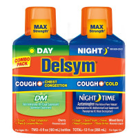 Delsym Adult Cough + Chest Congestion Day & Night Cold Liquid, Cherry & Mixed Berry, 12 oz [363824220222]