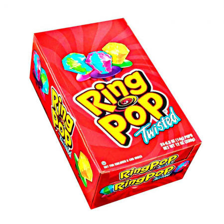 Ring Pop Twisted Fruit 24 ct [041116006005]